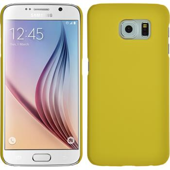 Hardcase for Samsung Galaxy S6 rubberized yellow