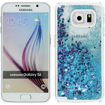 Hardcase for Samsung Galaxy S6 Stardust light blue