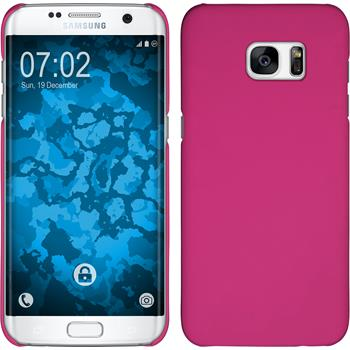 Hardcase for Samsung Galaxy S7 Edge rubberized hot pink