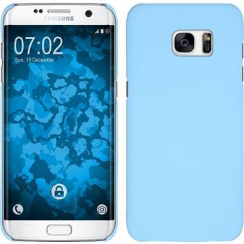 Hardcase for Samsung Galaxy S7 Edge rubberized light blue