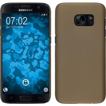 Hardcase for Samsung Galaxy S7 rubberized gold