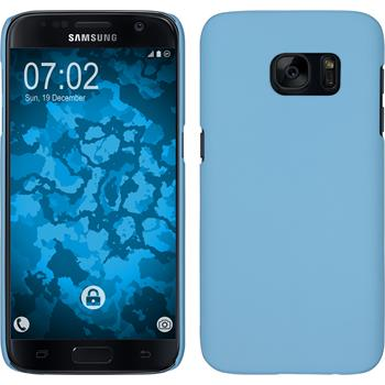 Hardcase for Samsung Galaxy S7 rubberized light blue
