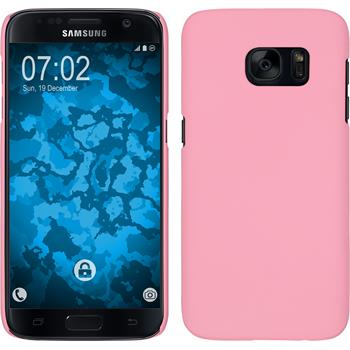 Hardcase for Samsung Galaxy S7 rubberized pink