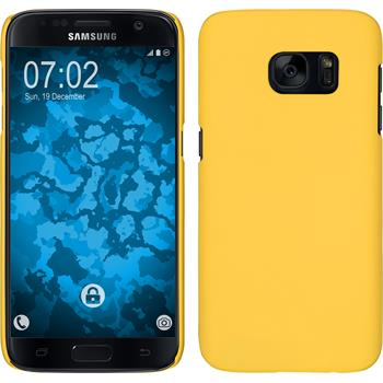 Hardcase for Samsung Galaxy S7 rubberized yellow