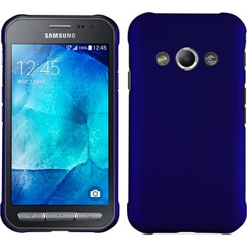 Hardcase for Samsung Galaxy Xcover 3 rubberized blue