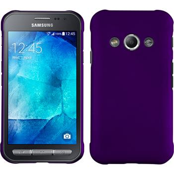 Hardcase for Samsung Galaxy Xcover 3 rubberized purple