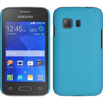 Hardcase for Samsung Galaxy Young 2 rubberized light blue