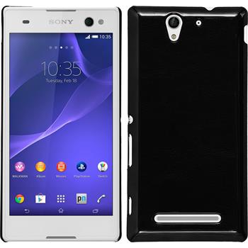 Hardcase for Sony Xperia C3 leather optics black