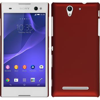 Hardcase for Sony Xperia C3 rubberized red