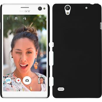 Hardcase for Sony Xperia C4 / Dual rubberized black