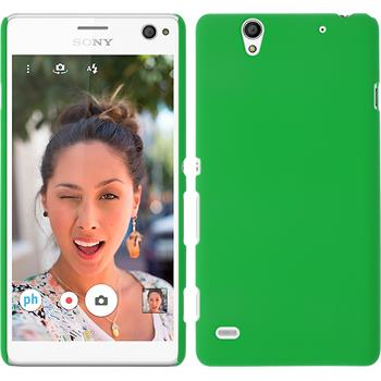 Hardcase for Sony Xperia C4 / Dual rubberized green