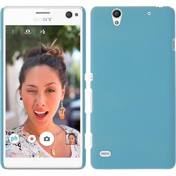 Hardcase for Sony Xperia C4 / Dual rubberized light blue