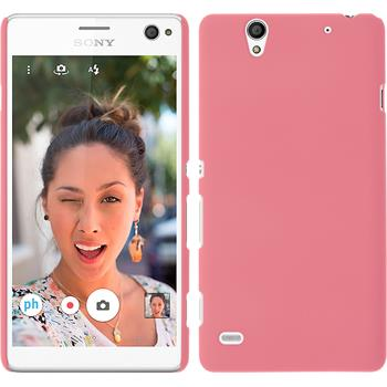 Hardcase for Sony Xperia C4 / Dual rubberized pink