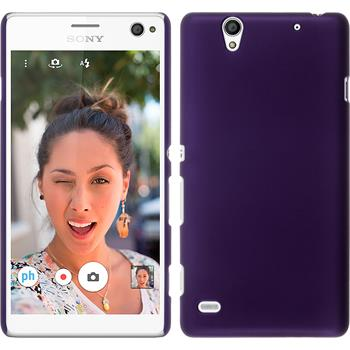 Hardcase for Sony Xperia C4 / Dual rubberized purple
