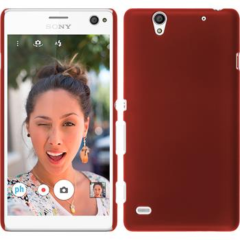 Hardcase for Sony Xperia C4 / Dual rubberized red