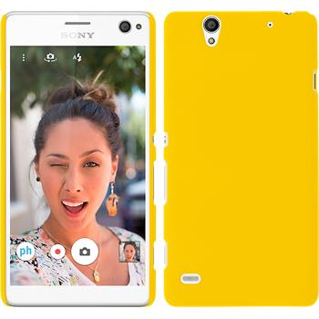 Hardcase for Sony Xperia C4 / Dual rubberized yellow
