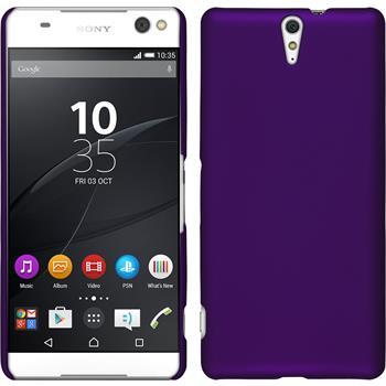 Hardcase for Sony Xperia C5 Ultra rubberized purple
