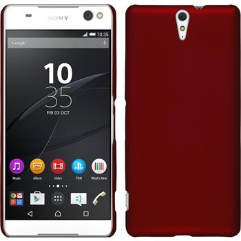 Hardcase for Sony Xperia C5 Ultra rubberized red