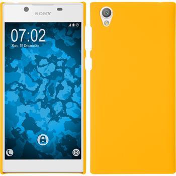 Hardcase Xperia L1 rubberized yellow
