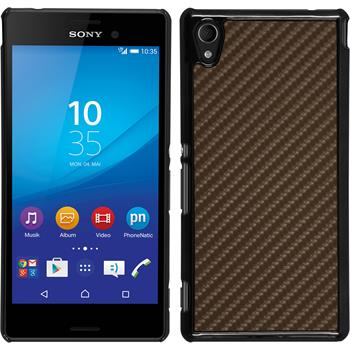 Hardcase for Sony Xperia M4 Aqua carbon optics bronze
