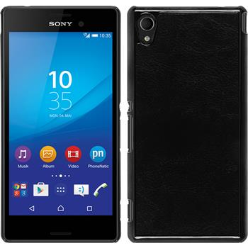 Hardcase for Sony Xperia M4 Aqua leather optics black