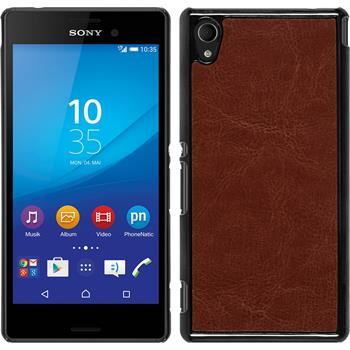 Hardcase for Sony Xperia M4 Aqua leather optics brown