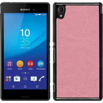 Hardcase for Sony Xperia M4 Aqua leather optics pink