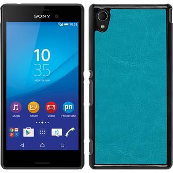 Hardcase for Sony Xperia M4 Aqua leather optics turquoise