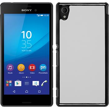 Hardcase for Sony Xperia M4 Aqua leather optics white