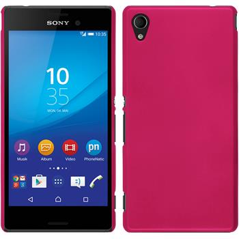 Hardcase for Sony Xperia M4 Aqua rubberized hot pink