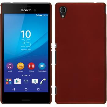 Hardcase for Sony Xperia M4 Aqua rubberized red