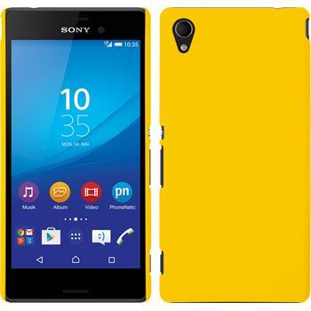Hardcase for Sony Xperia M4 Aqua rubberized yellow