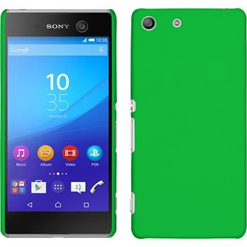 Hardcase for Sony Xperia M5 rubberized green