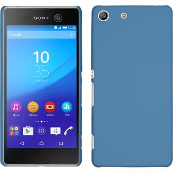 Hardcase for Sony Xperia M5 rubberized light blue