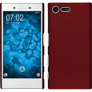 Hardcase for Sony Xperia X Compact rubberized red
