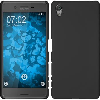 Hardcase for Sony Xperia X rubberized black