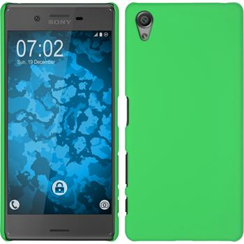 Hardcase for Sony Xperia X rubberized green