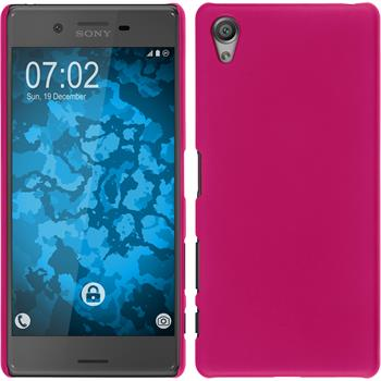 Hardcase for Sony Xperia X rubberized hot pink