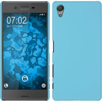 Hardcase for Sony Xperia X rubberized light blue