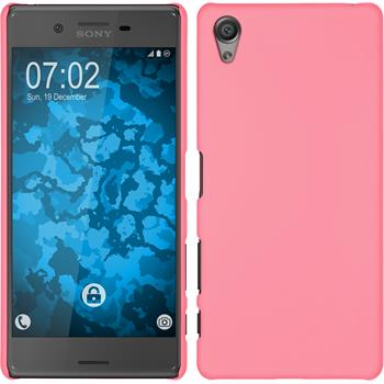 Hardcase for Sony Xperia X rubberized pink