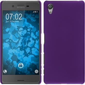 Hardcase for Sony Xperia X rubberized purple