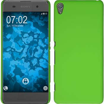Hardcase for Sony Xperia XA rubberized green