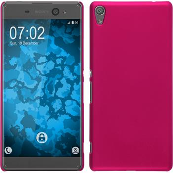 Hardcase for Sony Xperia XA Ultra rubberized hot pink
