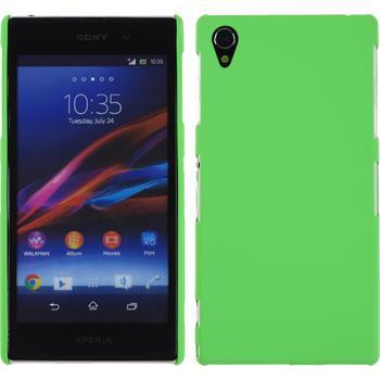 Hardcase for Sony Xperia Z1 rubberized green