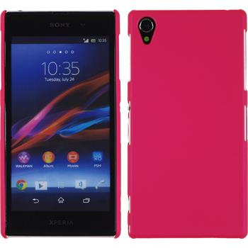 Hardcase for Sony Xperia Z1 rubberized hot pink