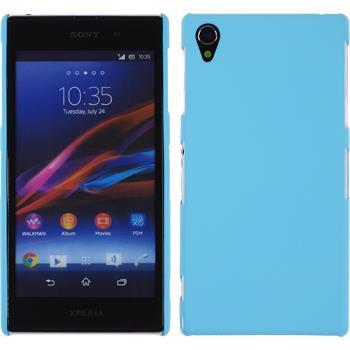 Hardcase for Sony Xperia Z1 rubberized light blue