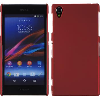 Hardcase for Sony Xperia Z1 rubberized red