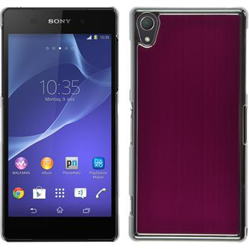 Hardcase for Sony Xperia Z2 metallic hot pink