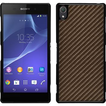 Hardcase for Sony Xperia Z3 carbon optics bronze