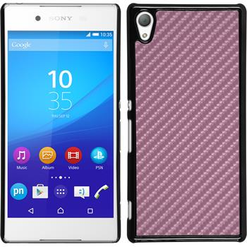 Hardcase for Sony Xperia Z3+ carbon optics hot pink
